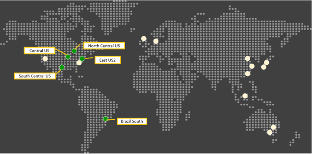 Azure Backup is now available in Brazil South, Central US, East US2, North Central US, South Central US regions